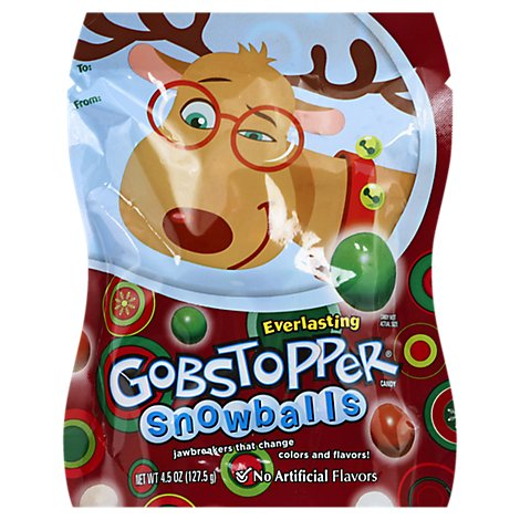 Gobstoppers Candy Snowballs Everlasting Bag - 4.5 Oz