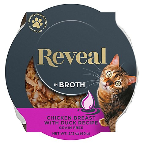 Reveal Cat Food Grain Free Chicken Breast With Duck In A Natural Broth - 2.12 Oz