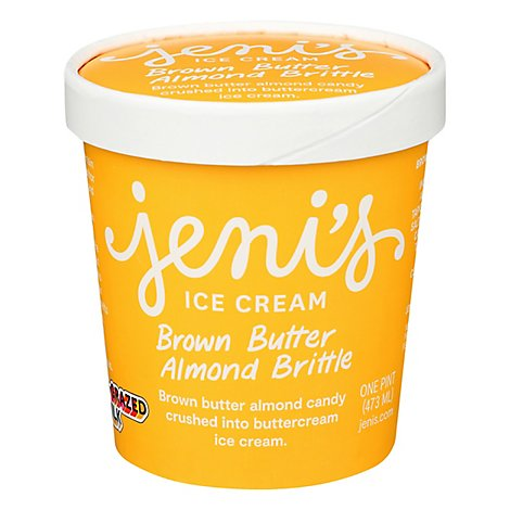 Jenis Ice Cream Brown Butter Almond Brittle 1 Pint - 16 Oz