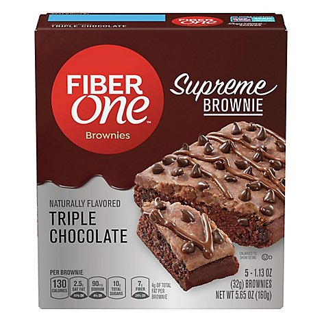 F1 Supreme Brownies Triple Choc 5ct 5.65oz - 5.65 Oz