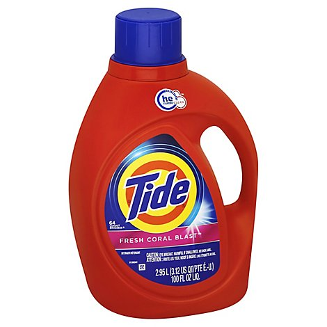 Tide Laundry Detergent Liquid Fresh Coral Blast - 100 Fl. Oz.