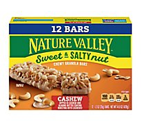 Nature Valley Sweet Salty Nut Chewy Gran Bars Cashew - 12-1.2 Oz