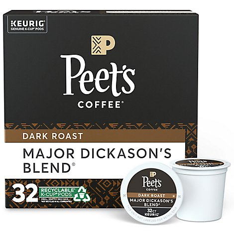 Peets Major Dickasons K-Cup Pack - 32 Count