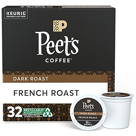 Peets French Roast K-Cups - 32 Count