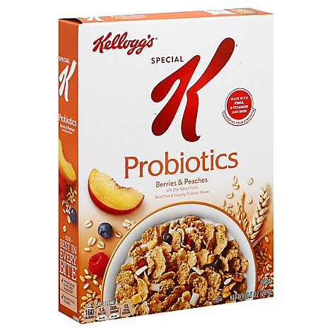 Special K Probiotics Breakfast Cereal Berries and Peaches - 10.5 Oz