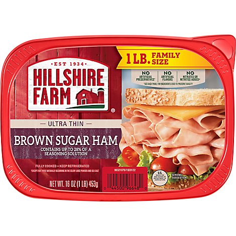 Hillshire Farm Ultra Thin Sliced Lunchmeat Brown Sugar Ham - 16 Oz