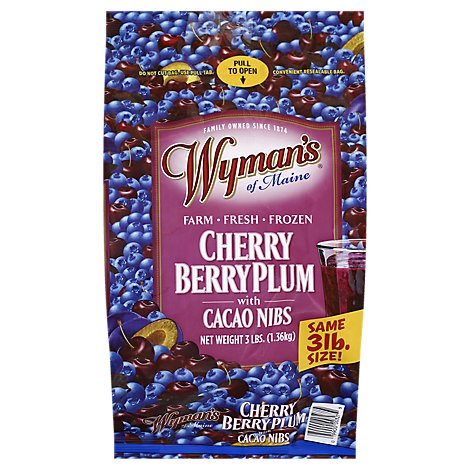 Wymans Cherries Plums Blueberries Cacaon - 3 Lb