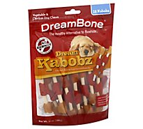 DreamBone Dog Chews No Rawhide Vegetable & Chicken Dream Kabobz Pouch 18 Count - 10 Oz
