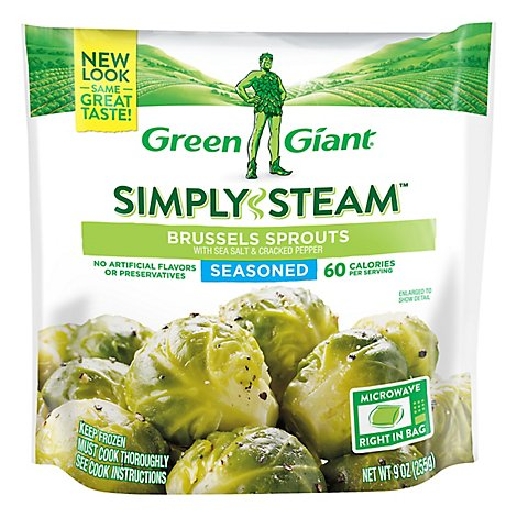 Green Giant Steamers Brussels Sprouts With Sea Salt And Cracked Pepper - 11 Oz