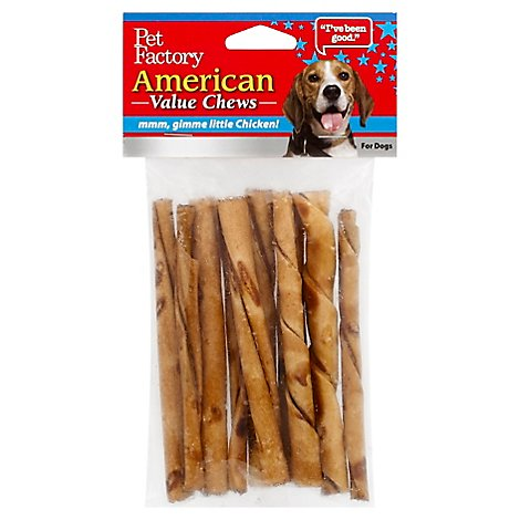 Pet Factory Chews For Dogs American Beefhide Chicken - 10 Count