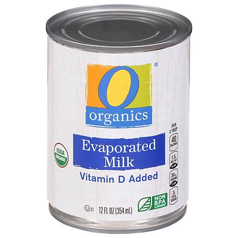 O Organics Organic Milk Evaporated - 12 Fl. Oz.