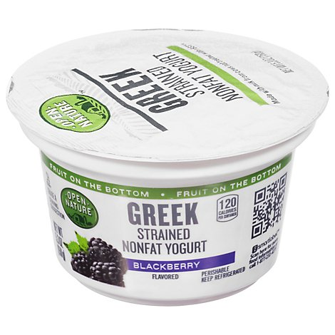 Open Nature Greek Yogurt Blackberry Nonfat - 5.3 Oz