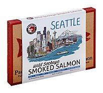 SeaBear Seattle Skyline Box Smk Sockeye Salmon - 6 Oz