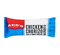 Reds Burrito Chicken Chorizo Egg & Three Cheese - 5 Oz