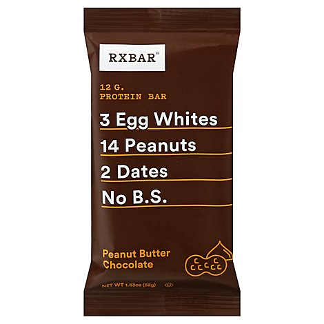 RXBAR Protein Bar Peanut Buttter Chocolate Wrapper - 1.83 Oz