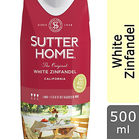 Sutter Home Tetra White Zinfandel Wine - 500 Ml