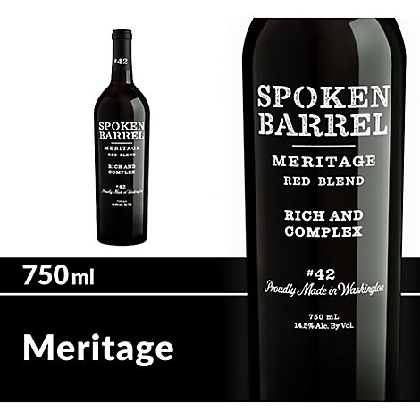 Spoken Barrel Wine Red Meritage - 750 Ml