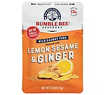 Bumble Bee Tuna Seasoned Lemon Sesame & Ginger - 2.5 Oz