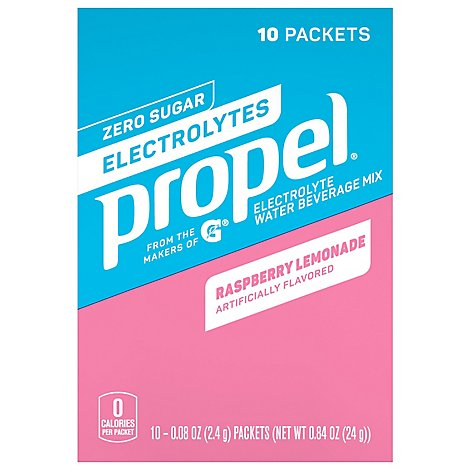 Propel Powder Raspberry Lemonade Plastic Packet 10-0.84 Ounce 8.4 Ounce 10 - 10-.08 Oz