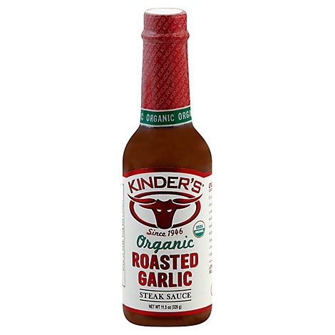 Kinders Organic Sauce Steak Roasted Garlic - 11.5 Oz