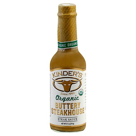 Kinders Organic Buttery Steakhouse Steak Sauce - 10.4 Oz