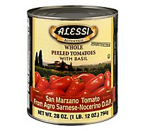 ALESSI Tomatoes Peeled Whole - 28 Oz