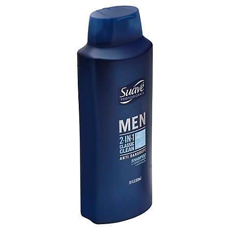Suave Professionals Men Shampoo & Conditioner 2 In 1 Anti Dandruff Classic Clean - 28 Fl. Oz.