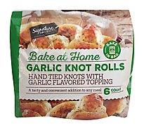 Signature Select Garlic Knots Hand Tied Bake In Bag - 7.8 Oz