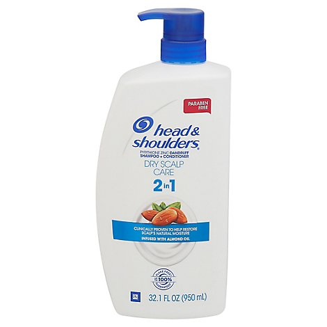 Head & Shoulders Shampoo + Conditioner 2In1 Dry Scalp Care With Almond Oil - 32.1 Fl. Oz.