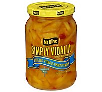 Mt Olive Simply Vidalia Pickled Onion Strips - 16 Fl. Oz.