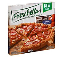 Freschetta Pizza Whole Grain Pepperoni Frozen - 23.71 Oz