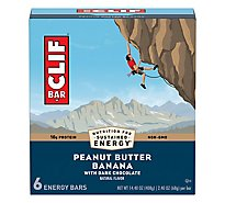 Clif Bar Peanut Butter Banana Drk Choc - 6-2.4 Oz