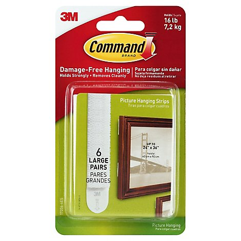 Command Picture Hanging Strips Large - 6 Count
