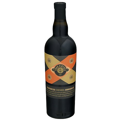 Four Virtues Bourbon Barrell Aged Zinfandel Wine - 750 Ml