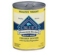 Blue Dog Food Homestyle Recipe Healthy Weight Dinner Chicken With Garden Vegetables - 12.5 Oz