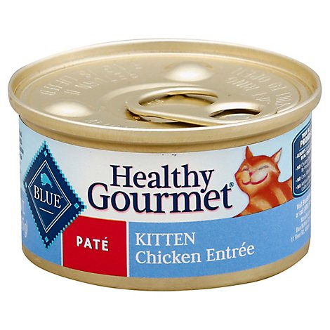 Blue Healthy Gourmet Cat Food Pate Kitten Chicken Entree Can - 3 Oz