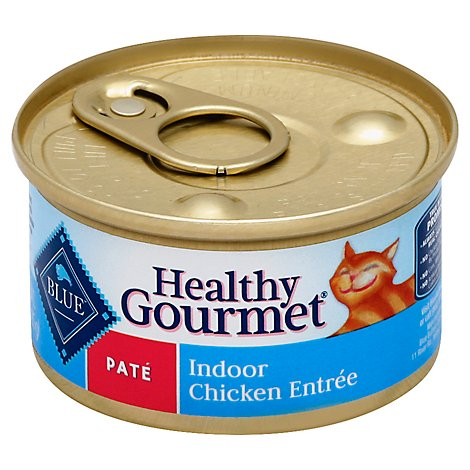 Blue Healthy Gourmet Cat Food Pate Indoor Chicken Entree Can - 3 Oz