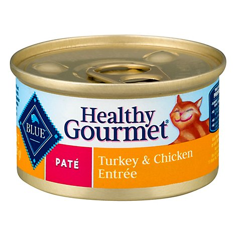 Blue Healthy Gourmet Cat Food Pate Turkey & Chicken Entree Can - 3 Oz