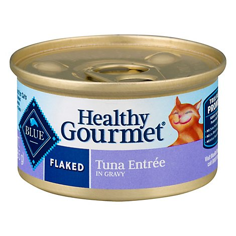 Blue Healthy Gourmet Cat Food Flaked Tuna Entree Can - 3 Oz