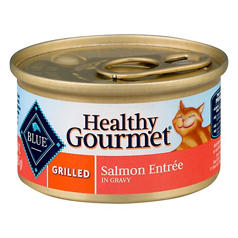 Blue Healthy Gourmet Cat Food Grilled Salmon Entree In Gravy Can - 3 Oz