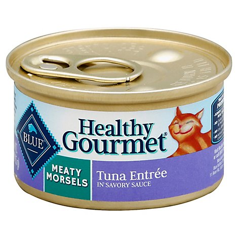 Blue Healthy Gourmet Cat Food Meaty Morsels Tuna Entree In Savory Sauce Can - 3 Oz