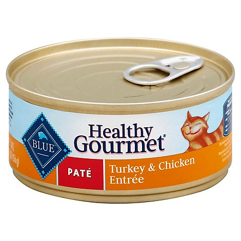 Blue Healthy Gourmet Cat Food Pate Turkey & Chicken Entree Can - 5.5 Oz