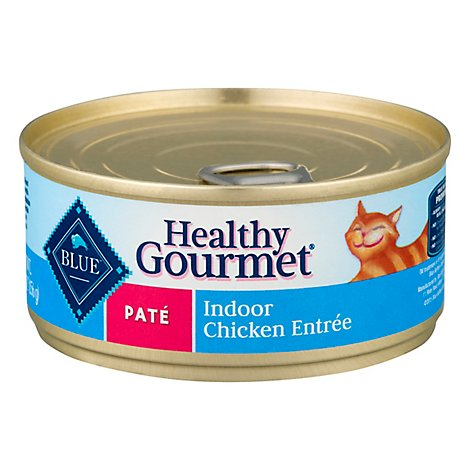 Blue Healthy Gourmet Cat Food Pate Indoor Chicken Entree Can - 5.5 Oz