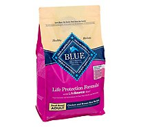 Blue Dog Food Life Protection Formula Adult Chicken & Brown Rice Small Breed Bag - 6 Lb