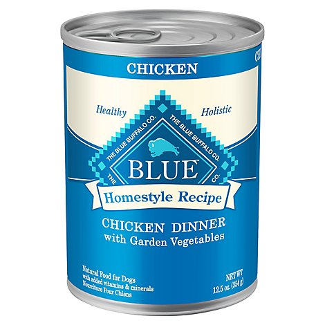 Blue Dog Food Homestyle Recipe Dinner Chicken With Garden Vegetables Can - 12.5 Oz