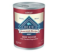 Blue Dog Food Homestyle Recipe Dinner Beef With Garden Vegetables Can - 12.5 Oz