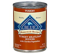 Blue Dog Food Homestyle Recipe Dinner Turkey Meatloaf With Garden Vegetables Can - 12.5 Oz