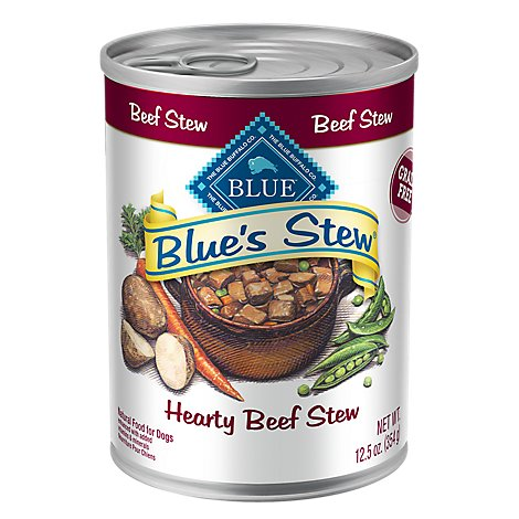 Blue Dog Food Blues Stew Grain Free Stew Hearty Beef Can - 12.5 Oz