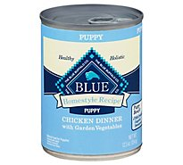 Blue Dog Food Homestyle Recipe Dinner Chicken With Garden Vegetables Puppy Can - 12.5 Oz