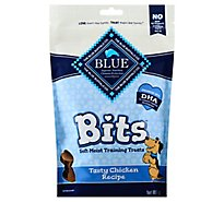 Blue Blue Bits Dog Treats Tasty Chicken Recipe Value Size Bag - 9 Oz